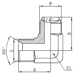 Desenho de Adaptadores Hidráulicos BSP