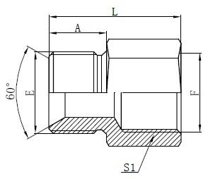 Desenho de adaptadores de mangueira padrão britânico