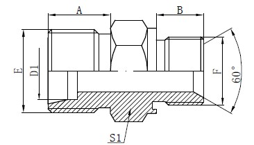Conexões de adaptador de vedação cativa