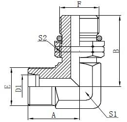 Desenho de garanhão ajustável macho de cotovelo