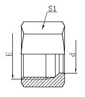 Desenho de porca de retenção de tipo pesado