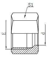 Desenho de porcas de retenção hidráulica