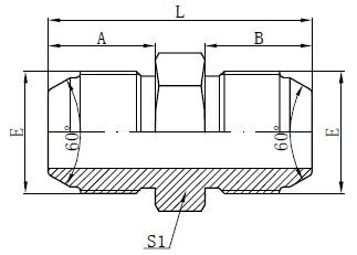 JIS Metric Male Adapters Drawing