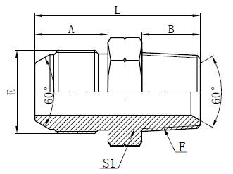 Desenho do Adaptador JIS To NPT