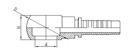 Desenho de encaixe de mangueira banjo métrica