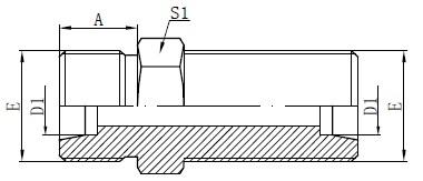 Desenho de conectores de anteparo métrico