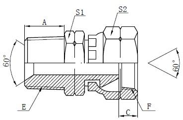 Desenho de acessórios de adaptador NPSM