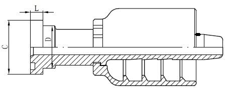 Desenho de conector de tubo SS