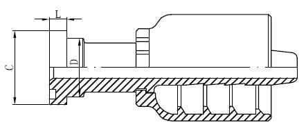 Desenho de acessórios hidráulicos de aço inoxidável